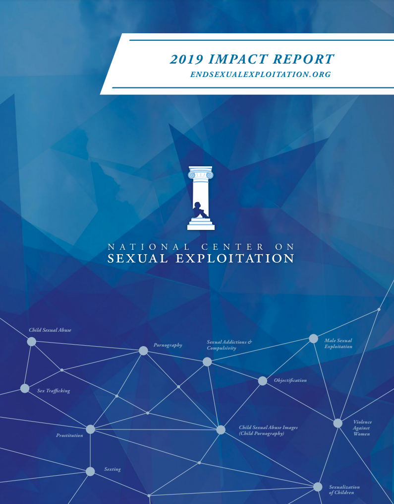 Cover of the 2019 NCOSE Impact Report
