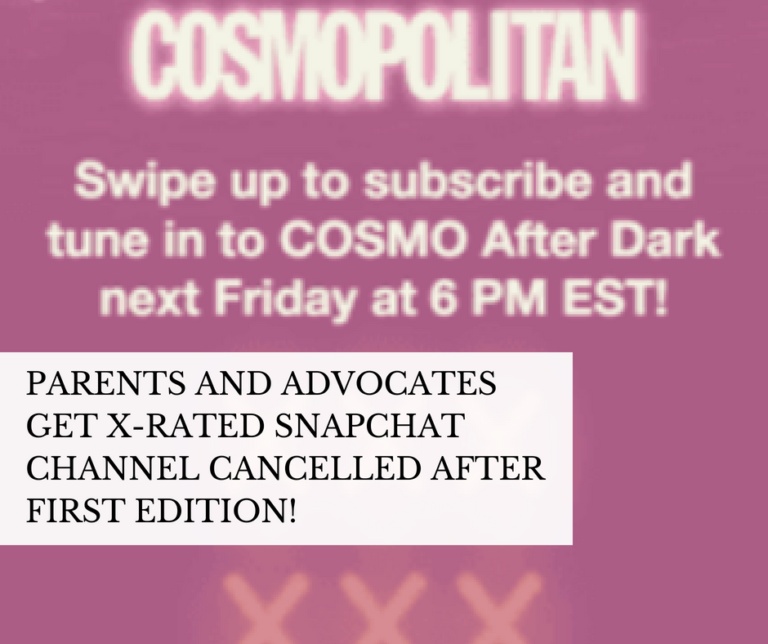 """Cosmopolitan and Snapchat's X-Rated channel """"Cosmo After Dark"""" Cancelled"""
