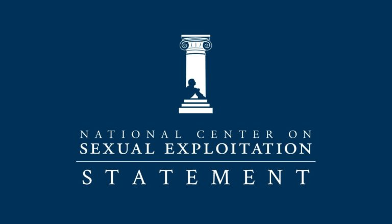 NCOSE Press Statement logo